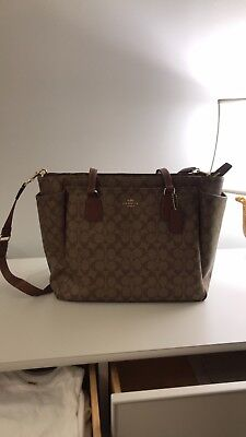 Coach Signature Baby Bag with Changing Pad Insert. New with Tags.