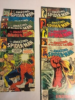 Amazing Spider-Man lot 246 247 248 249 250 251 253 254 255 256 Hobgoblin
