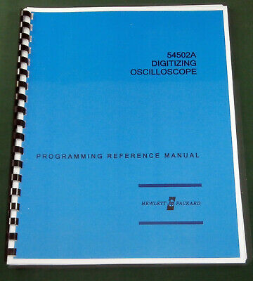 HP 54502A Programming Reference Manual: Comb Bound & Protective Covers