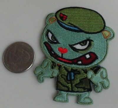 Happy Tree Friends Flippy 8cm x 7cm Patch Embroidered Sew or Iron on Badge