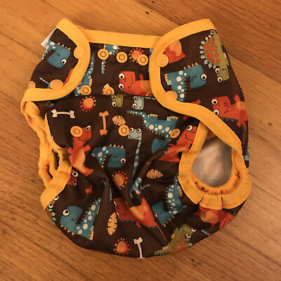 Blueberry One-Size Coverall Snap Diaper Cover - Dinosaurs (really cute)