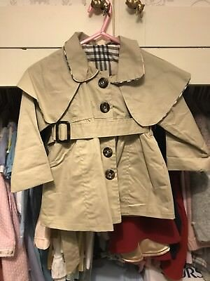 Burberry Trench Coat MAC Size 18 Months Fake New