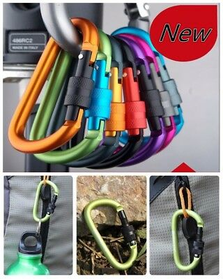 1X lock type d quickdraw buckle hanging aluminum nut backpack buckle Carabiners