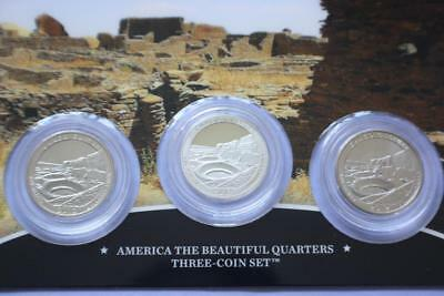 2012 S P D America's The Beautiful Chaco National Historical Park 3 Quarters Set