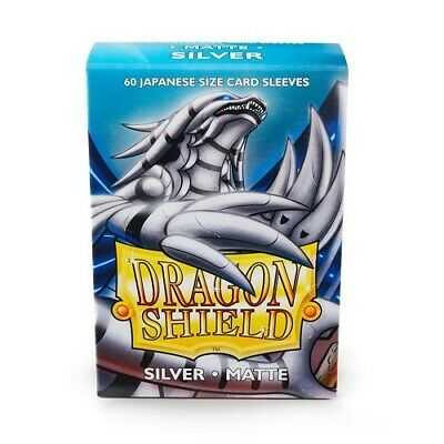 Dragon Shield 60 Deck Protector Sleeves Japanese size Matte Silver AT-11108 YGO