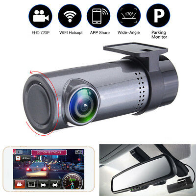 HD 1080P Mini 360° WiFi Hidden Car DVR Dash Cam Camera Video Recorder Monitor
