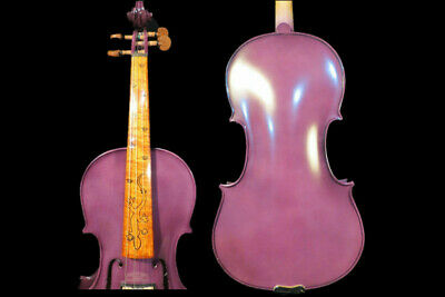 Purple colo solid wood 4/4 electric violin +Acoustic violin