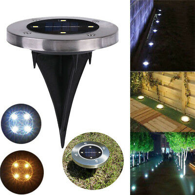 4-LED Outdoor Solar Powered Disk Lights LED Garden Under Ground Stair Lights