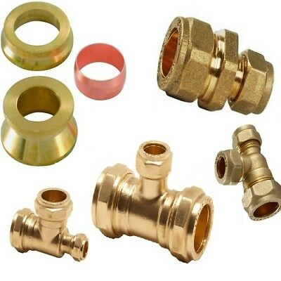 Reducing Tee / Coupling / Internal Reducing Set - Brass Compression Fittings