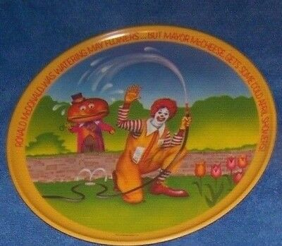 1977 RONALD McDONALD PLATES April Showers Mayor McCheese and Ronald lot of 5