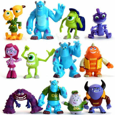 New 12 PCS / SET Monsters Inc. Monsters University Mike Sully Action Figure Toy
