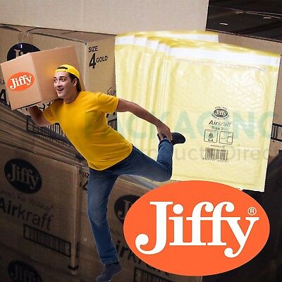 WHITE / GOLD GENUINE JIFFY BRAND PADDED BAGS / ENVELOPES 'ALL SIZES' 24h DEL