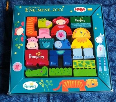 Haba ene mene zoo pampers Edition Holzbausteine in Tierform Holz