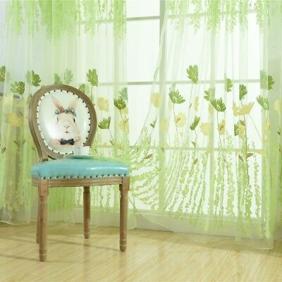 Valances Tulle Voile Door Window Curtain Drape Panel Sheer-Scarf Divider Hot
