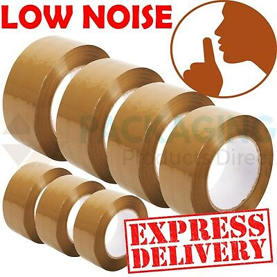 Extra Strong Low Noise Big Tape Parcel Packing Tape 50Mm X66M Brown /buff Large