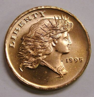 1995 Gallery Mint Proof Liberty Concept Dollar - Bronze, 29mm
