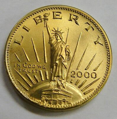 2000 Gallery Mint Golden Concept Dollar - Statue of Liberty - 26.5mm