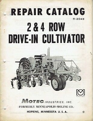 Minneapolis Moline Operator's Manual 2&4 Row 3 Point Hitch Cultivators