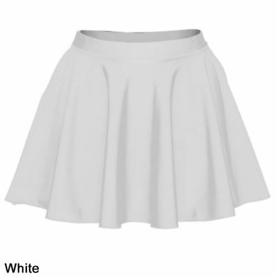 NEW Pointers & Tappers White Lycra Ice Skating Dance Skirt Girls Size 6-8 Years
