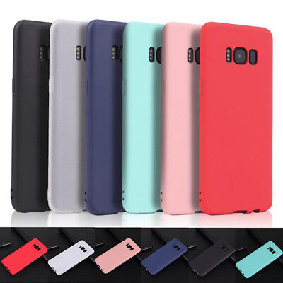 For Samsung Galaxy S10 E S9 S8 S7 S6 TPU Silicone Ultra Thin Frosted Cover Case