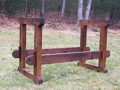 Antique Late 1800's Carpenters Woodworkers Bench Base Hall Table Island Decor