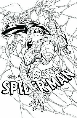 Amazing Spiderman 798 Greg Land Texas Hospital Virgin B&w Variant Pre-Sale 4/4