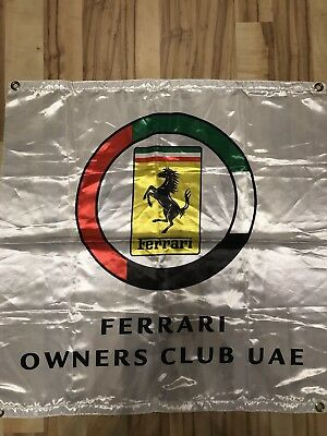 Ferrari Fahne OWNERS CLUB UAE Scuderia