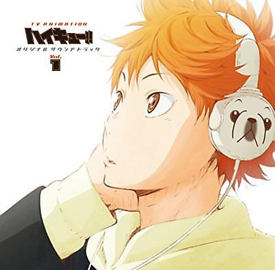 Haikyuu O.S.T.1 Soundtrack CD Free Shipping with Tracking number New from Japan