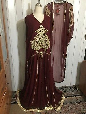 Fancy 5X 4X  Plus sz caftan EVENING dress gown maxi ABAYA jalabia jacket tall