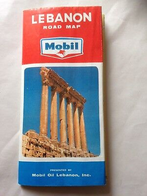 "LEBANON ROAD MAP ""Mobil"" mit Beirut City Map"
