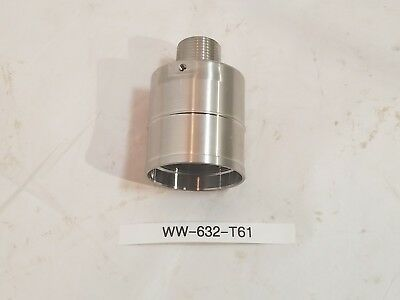 """New Stainless Steel Antenna Mount Base 1""""x 2"""" Male- Female Threaded"""