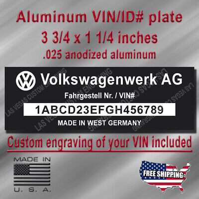 REPLACEMENT VOLKSWAGEN ID Tag with Custom engraving included