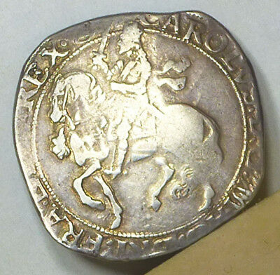 England 1/2 Crown ND (1641-1643) Fine Condition