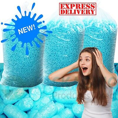 BLUE Compostable ECO FLO Biodegradable Polystyrene Loose Fill Void Filler NEW