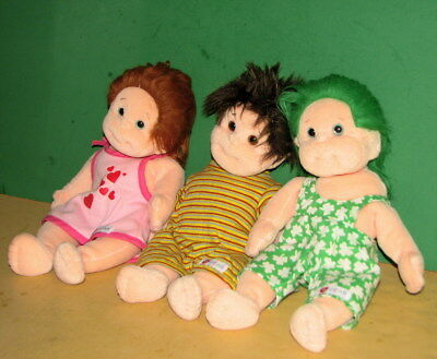 """TY Beanie Babies/Lot B/ 10"""" Tall/All Cloth/Shenangan, Specs & Ginger/Nice Cond."""