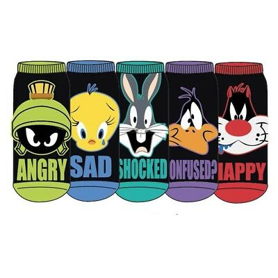 Looney Tunes Black Low Cut Socks 5 pack