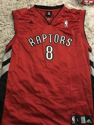 cade2c41c Adidas NBA Jersey Toronto Raptors Jose Calderon Red Throwback sz L