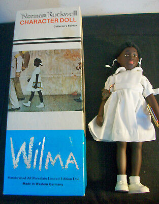 Vintage Norman Rockwell African American Ltd Ed WILMA Doll-MINT IN BOX-COMPLETE