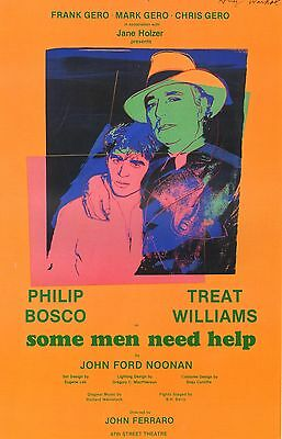 """Andy Warhol Poster Art Print  Theater Production """"some Men Need Help"""" 1982"""