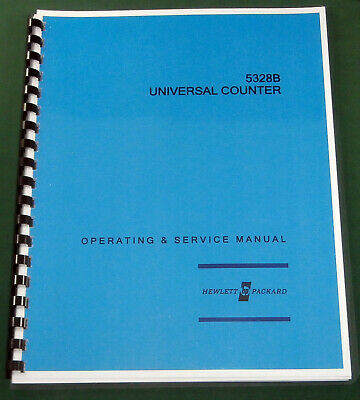 """HP 5328B Operating & Service Manual: w/11""""X17"""" Foldouts & Protective Covers"""