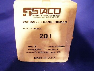 Staco Variac 0/120 Volt To 120/132 Volt 2.0 Amp New Old Stock .made In The Usa.