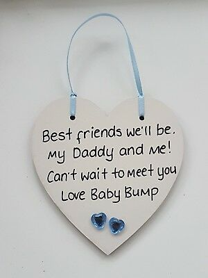 Personalised Plaque Gift From Baby Bump Birthday Mummy Daddy Grandad Fathers Day