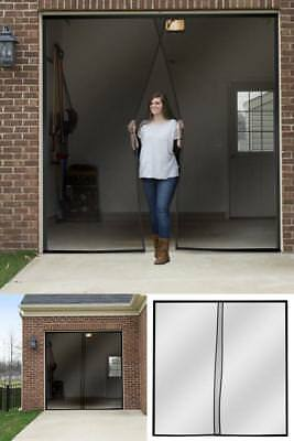 One Single Car Garage Door Screen Weighted Magnetic 114 Inches X 90 Inches