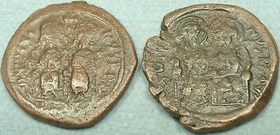 Lot Of 2 Large Byzantine Bronze Coins