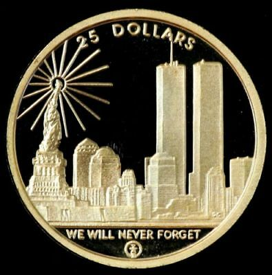 2004 $25 WTC Freedom Tower Gold Coin N. Mariana Island 1/4 oz .9999 with Box