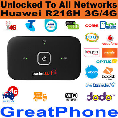 New Huawei R216H 3G / 4G Pocket WiFi Modem + $30 SIM - Unlocked to All Networks