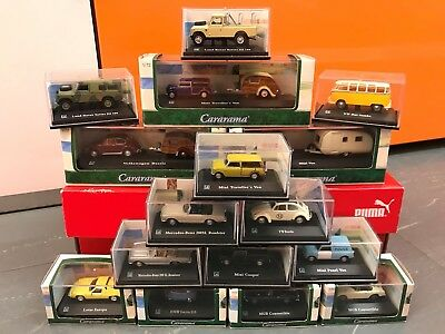 JOB LOT of CARARAMA Mini 1/72 Scale Model Toy Cars Bundle all in display Cases