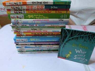 Lot 27 DR SEUSS Beginner Learning Library Book vintage no duplicates