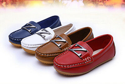 New Boys Girls Pea Child Soft Rubber Outsole Baby Pea Flats Loafers Casual Shoes