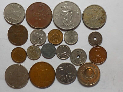 Set of 19 Norway Coins (L19)